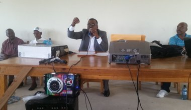 À Bainet et à Jacmel, les équipes mobiles de la MINUJUSTH ont organisé des conférences-débats sur l'état de droit. © UN / MINUJUSTH, 2018