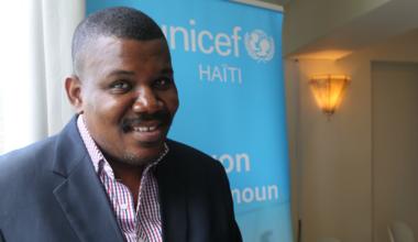 Le droit des enfants ? Un domaine jusqu'ici peu exploré voire ignoré en Haïti selon Jacques Desrosiers, Secrétaire général de l'Association des journalistes haïtiens (AJH). © David Nieto / UN / MINUJUSTH, 2018