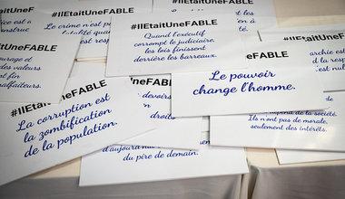 Au sein de la Commission nationale haïtienne de coopération avec l'Unesco (CNHCU), la MINUJUSTH a dévoilé les 33 fables produites pas des enfants dans le cadre de son concours #IlEtaitUneFABLE. © Leonora Baumann / UN / MINUJUSTH, 2018