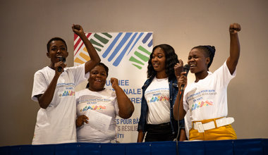 Le 5 décembre dernier, à l'occasion de la Journée internationale des volontaires (JIV), la famille des Nations Unies en Haïti saluait la contribution de plus de 17 000 volontaires actifs en Haïti pour l'année 2018. © Leonora Baumann / UN / MINUJUSTH, 2018