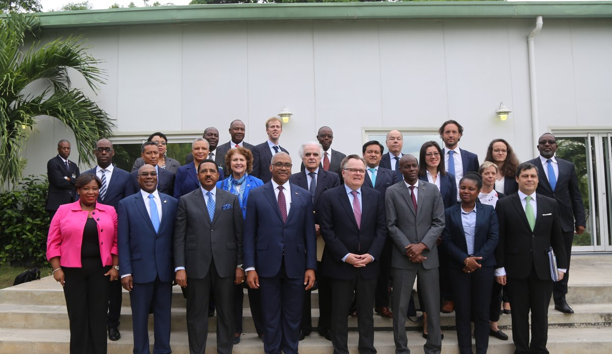 An Ambassadorial level delegation in visit to the country from 7-10 May have met Haitian authorities, civil society representatives and development partners to discuss national priorities. © David Nieto / UN / MINUJUSTH, 2018