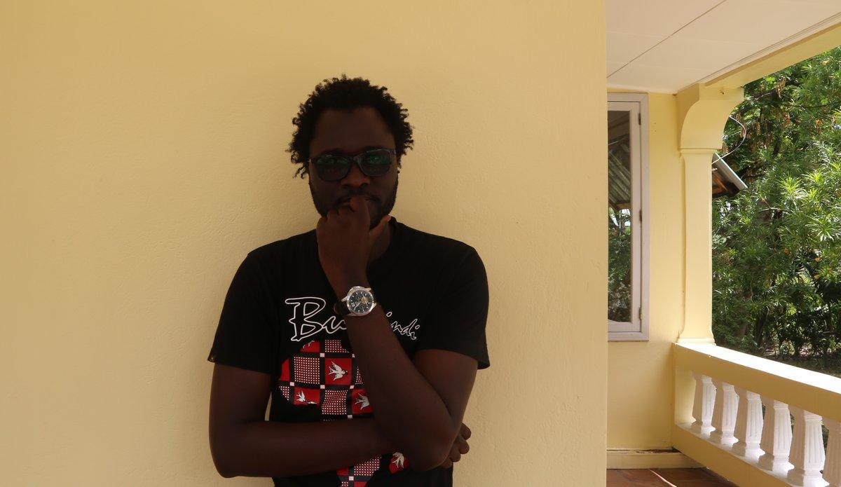 Le célèbre blogueur, cyber-activiste et journaliste sénégalais Cheikh Fall a séjourné en Haïti du 24 avril au 1er mai. © David Nieto
