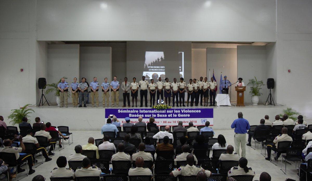 Début octobre 2018, la PNH et la composante Police de la MINUJUSTH organisaient un séminaire international afin d'évoquer la lutte contre les violences sexuelles et sexistes. © David Nieto / UN / MINUJUSTH, 2018
