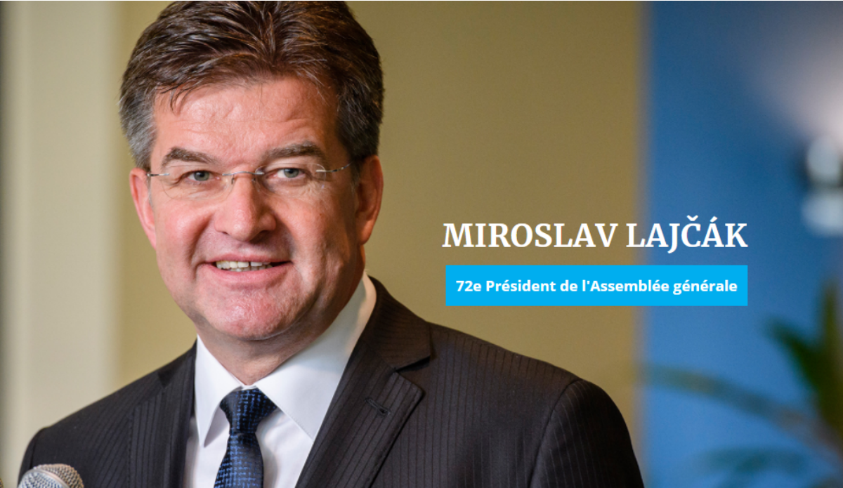 For Miroslav Lajčák, President of the General Assembly, the United Nations need a new approach to peace. © UN Photo