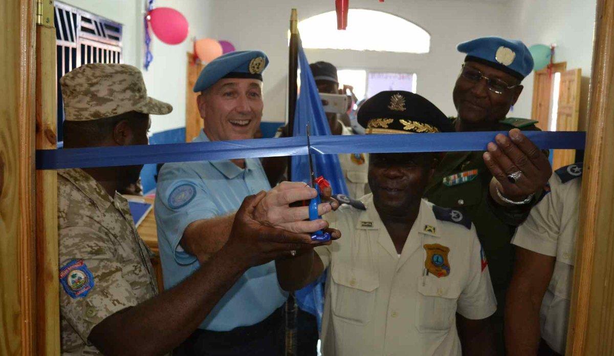 La réhabilitation du commissariat s'inscrit dans l'accompagenment de la PNH, acteur clé de l'état de droit en Haïti. © UNPOL Adili Toro Agali / UN / MINUJUSTH, 2018