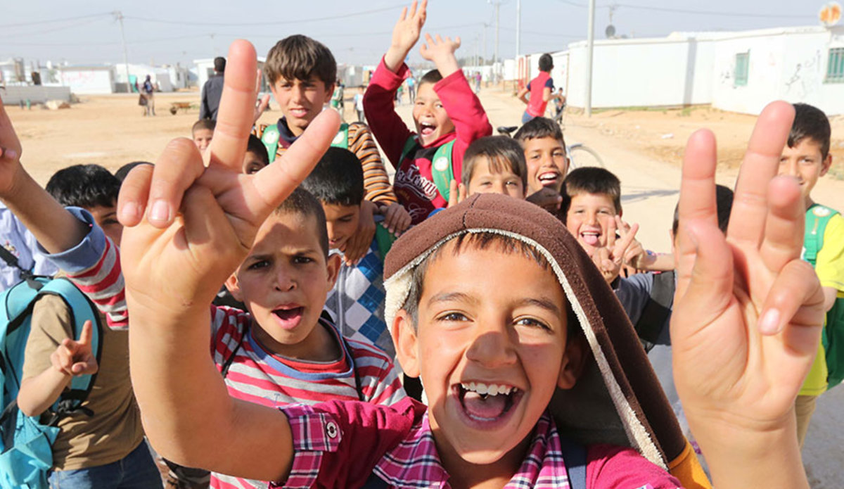 Children in Zataari Camp in Jordan. © ONU/Sahem Rababah