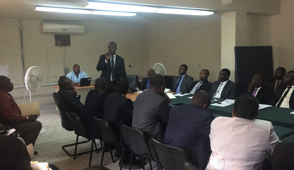 Au Palais de Justice de Port-au-Prince, la MINUJUSTH a financé la formation de deux bureaux d'assistance légale et gratuite. © Frantz Gilot / UN / MINUJUSTH, 2018