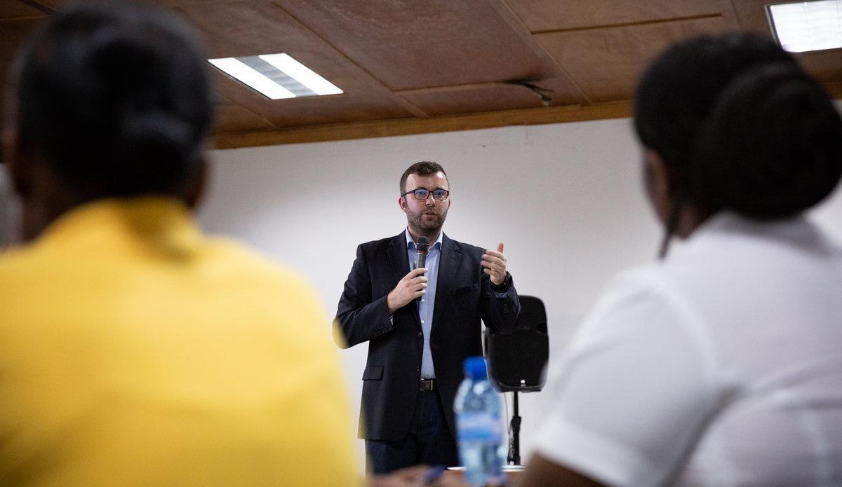 La MINUJUSTH a organisé un atelier de sensibilisation sur l'exploitation et abus sexuels. © Leonora Baumann / UN / MINUJUSTH, 2018