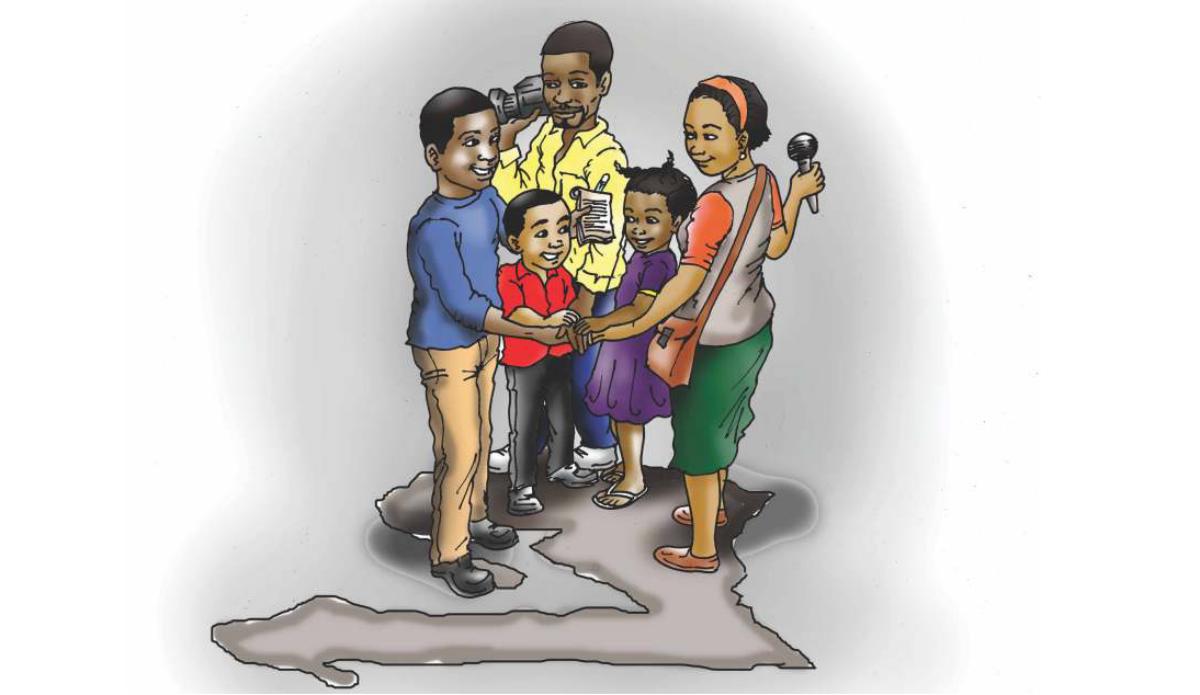 Le droit des enfants ? Un domaine jusqu'ici peu exploré voire ignoré en Haïti selon Jacques Desrosiers, Secrétaire général de l'Association des journalistes haïtiens (AJH). © Jerry Rosembert / UNICEF HAÏTI, 2018