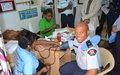 Don du sang : les policiers internationaux du contingent indien en solidarité avec les populations haïtiennes
