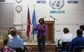 la MINUJUSTH invite les membres du personnel des Nations Unies au débat