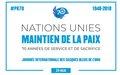 Le Secrétaire général – Message à l'occassion de la Journée internationale des Casques bleus des Nations unies