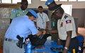 la MINUJUSTH remet des matériels aux unités d'intervention de la Police nationale d'Haïti