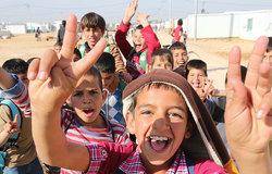 Des enfants dans le camp de réfugiés de Zataari, en Jordanie. © ONU/Sahem Rababah