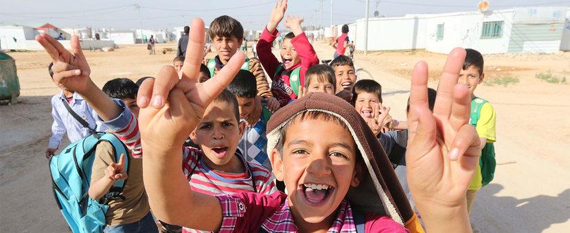 Children in Zataari Camp in Jordan. © ONU/Sahem Rababah